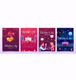 valentine s day banners set invitation for dating vector image vector image