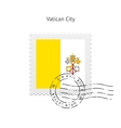 Vatican City Flag Postage Stamp vector image