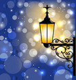 Vintage street lamp dark winter background vector image vector image