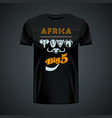 vintage t-shirt with stylish african big five in vector image vector image