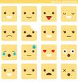 Waffle emoticons vector image vector image