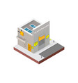 warehouse building in isometric projection vector image vector image