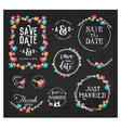 Wedding Design Elements for Invitations vector image vector image