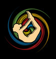 woman yoga action sport pose vector image