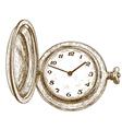 engraving pocket watch vector image