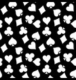 seamless pattern background of white poker suits - vector image