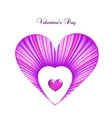 Valentine day card template with heart vector image