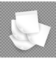 white realistic paper sheet with shadow vector image