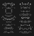 ornaments and decorative dividers white elements vector image