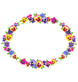 pansy wreath vector image