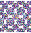 abstract seamless patterns circles vector image