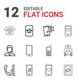 12 telephone icons vector image vector image