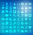 64 universal flat icon set for web desighers ui vector image vector image