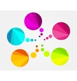 Abstract colorful round speech bubble vector image