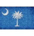 Abstract Mosaic flag of South Carolina vector image vector image