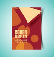 abstract report cover7 vector image vector image