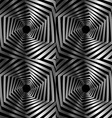 Abstract striped warped hexagonal optical vector image vector image