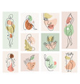 abstract woman background set in continuous vector image vector image