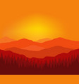 background with mountains travel agency vector image vector image