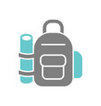 Backpack icon on white background for graphic and