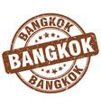 bangkok brown grunge round vintage rubber stamp vector image vector image