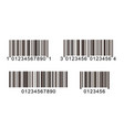 bar code icons product code line symbol vector image vector image