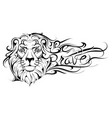 be brave lettering lion tattoo vector image