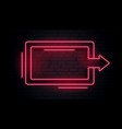 blank neon arrow light frame vector image