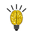 bulb as the brain vector image vector image