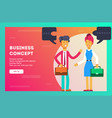 business concept teamwork metaphor vector image vector image