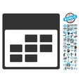 Calendar Month Table Flat Icon With Bonus vector image vector image