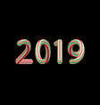 caramel stick numbers of 2019 new year holiday vector image vector image