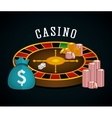 Casino royal games design vector image vector image