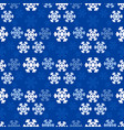 christmas snowflakes background in blue color vector image vector image