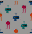 colorful seamless pattern with funky monsters vector image