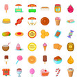 confectionery icons set cartoon style vector image vector image