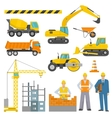 Construction Decorative Icons Set vector image vector image