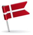 Danish pin icon flag vector image vector image