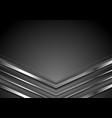 dark grey abstract tech background with metallic vector image vector image