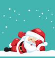 design happy santa claus lying down vector image vector image