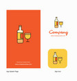 drinks company logo app icon and splash page vector image