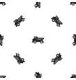 dump truck pattern seamless black vector image vector image