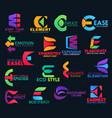 e modern color creative corporate identity design vector image vector image