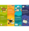 Education and E-learning Concept Banners vector image vector image