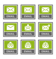 email signs and icons set mail message vector image vector image