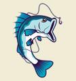 fishing mascot vector image