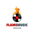 Flame Music Logo vector image vector image