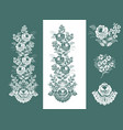 floral pattern set of silhouette of flower vector image vector image