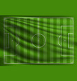 football field soccer vector image vector image