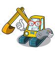gamer excavator mascot cartoon style vector image vector image